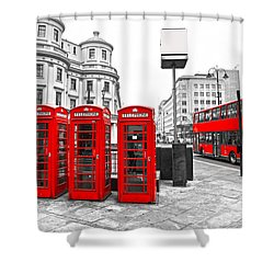 Shower Curtain featuring the photograph Red London by Luciano Mortula