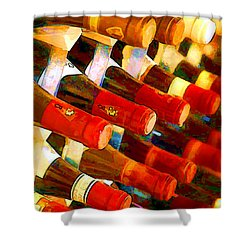 Red Or White Shower Curtain by Elaine Plesser