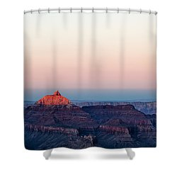 Red Peak Shower Curtain by Dave Bowman