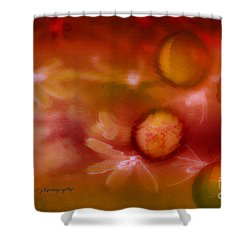 Red Pearl Dragon Fly Shower Curtain by Vicki Ferrari