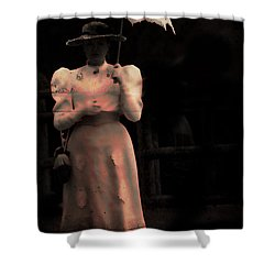 Red Rain  Shower Curtain by Empty Wall
