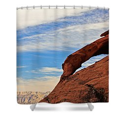 Red Rock  Shower Curtain by Kaye Seaboch