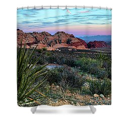 Red Rock Sunset II Shower Curtain by Rick Berk