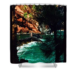 Red Sands Beach Maui Shower Curtain