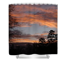 Shower Curtain featuring the photograph Red Sky At Dawn by Jean Haynes