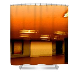 Shower Curtain featuring the photograph Red Subway by Andy Prendy