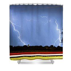 Red White And Blue Shower Curtain by James BO  Insogna