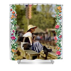 Redheaded Beauty Shower Curtain by Brian Wallace