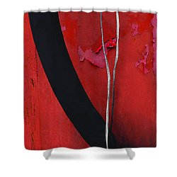 Redrum Shower Curtain by Skip Hunt