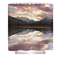 Reflecting Mountains Shower Curtain
