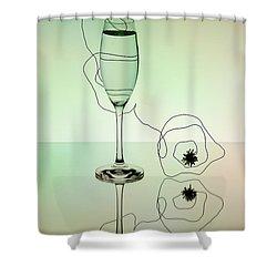 Reflection 02 Shower Curtain by Nailia Schwarz