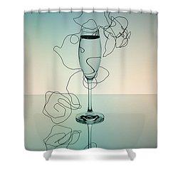 Reflection 03 Shower Curtain by Nailia Schwarz