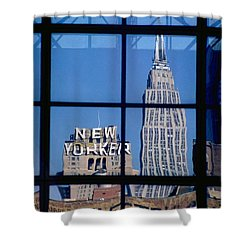 Reflection Empire State Building Shower Curtain