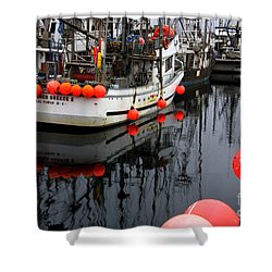 Reflections At French Creek Shower Curtain by Bob Christopher