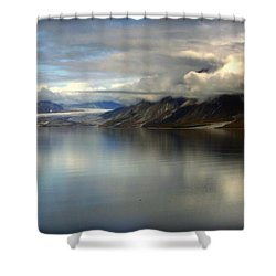 Reflections Of Stillness Shower Curtain by Karen Wiles