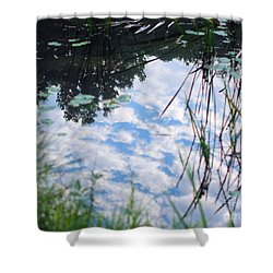 Reflections Of The Sky Shower Curtain by Smilin Eyes  Treasures