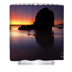 Reflections Of The Tides Shower Curtain by Mike  Dawson