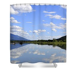 Shower Curtain featuring the photograph Reflections On Swan Lake by Nina Prommer