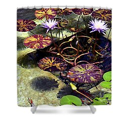 Shower Curtain featuring the photograph Reflections On Underwater Life by Clayton Bruster