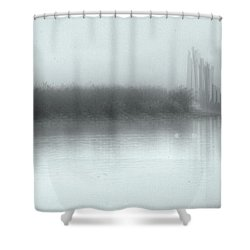 Reflections Through The Fog Shower Curtain by Rod Wiens