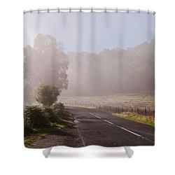 Refreshing Morning Fog In Trossachs. Scotland Shower Curtain by Jenny Rainbow