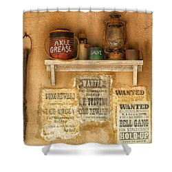 Relics Of The Old West Shower Curtain by Sandra Bronstein