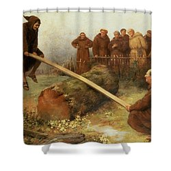 Religion Was Never Designed To Make Our Pleasure Less Shower Curtain by William Strutt