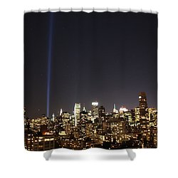 Remember The Heroes Shower Curtain by Catie Canetti