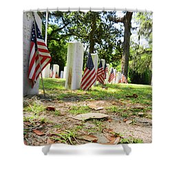 Shower Curtain featuring the photograph Remember The Sacrifice by Paul Mashburn