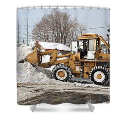 Removing Snow Shower Curtain by Ted Kinsman
