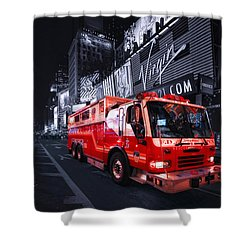 Rescue Me Shower Curtain by Evelina Kremsdorf