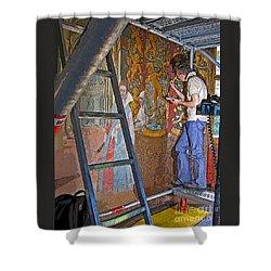 Restoring Art Shower Curtain by Ann Horn