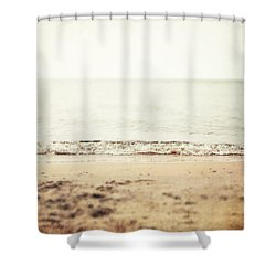 Retro Beach Shower Curtain By Lisa Russo