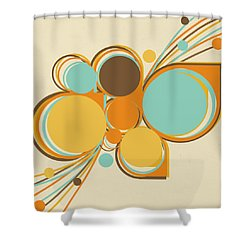 Retro Pattern Shower Curtain by Setsiri Silapasuwanchai