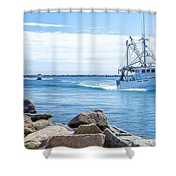 Return Shower Curtain by Joan Carroll