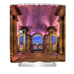Rhapsody In Pink Shower Curtain by Evelina Kremsdorf