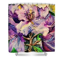 Rhododendron Violet Shower Curtain