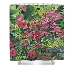 Shower Curtain featuring the painting Rhododendrons And Azaleas by Donald Maier