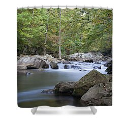 Richland Creek Shower Curtain by David Troxel