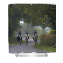Riding In Tandem Shower Curtain