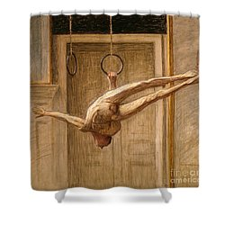 Ring Gymnast No 2 Shower Curtain by Eugene Jansson