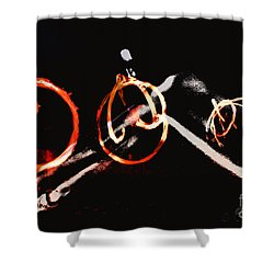 Shower Curtain featuring the photograph Burning Rings Of Fire by Clayton Bruster