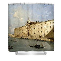 Rio Dei Mendicanti Shower Curtain by Francesco Guardi