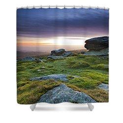 Rippon Tor II Shower Curtain by Sebastian Wasek