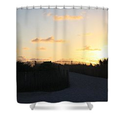 Rise And Shine Miami Shower Curtain