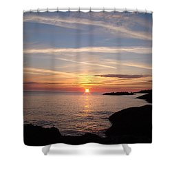 Shower Curtain featuring the photograph Rising Sun by Bonfire Photography