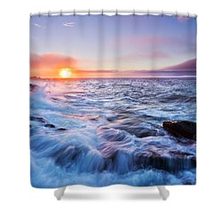 Rising Tide Shower Curtain by Mircea Costina Photography