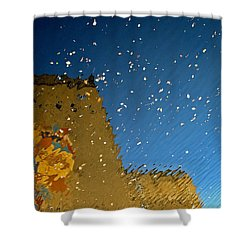Shower Curtain featuring the photograph River Crossing Border Crossing by Andy Prendy