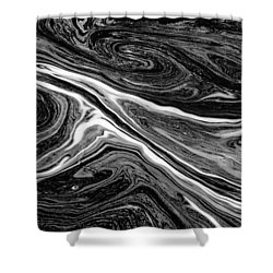 River Foam Shower Curtain