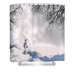 Shower Curtain featuring the photograph River In The Sky by Pamela Hyde Wilson